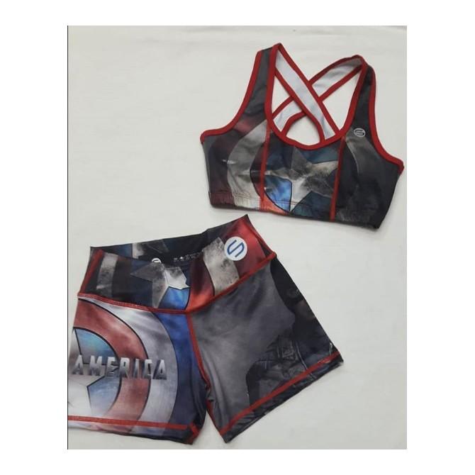 Conjunto Lycra Capitán América