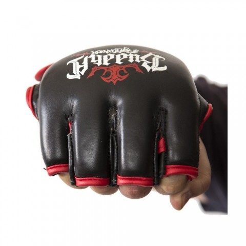 Guantilla de MMA Buddha Negra Competición Piel