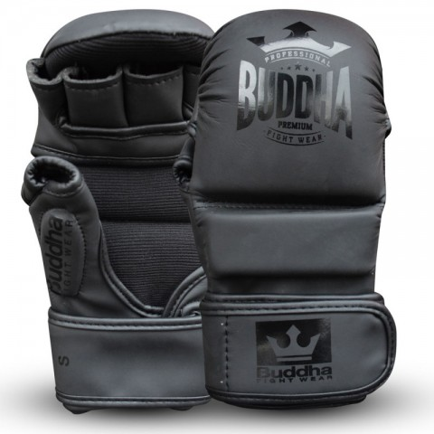 Guantes MMA Buddha Competición Amateur Negros Piel