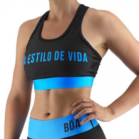 Top Deportivo Mujer Bõa Estilo De Vida - Azul