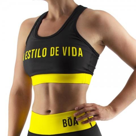 Top Deportivo Mujer Bõa Estilo De Vida - Amarillo