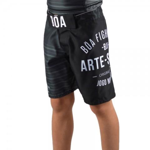 Short MMA Bõa Jogo No chão Niño - Negro