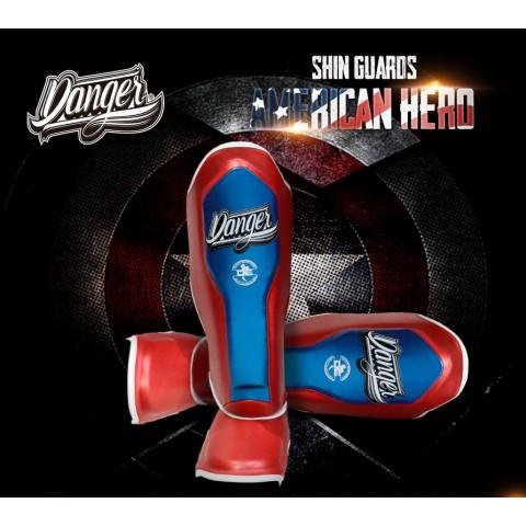 Espinilleras Danger EVO-X - Capitán América