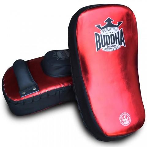 Paos Buddha  S Piel Curvados Pro Velcro Rojo Metalic (Par)