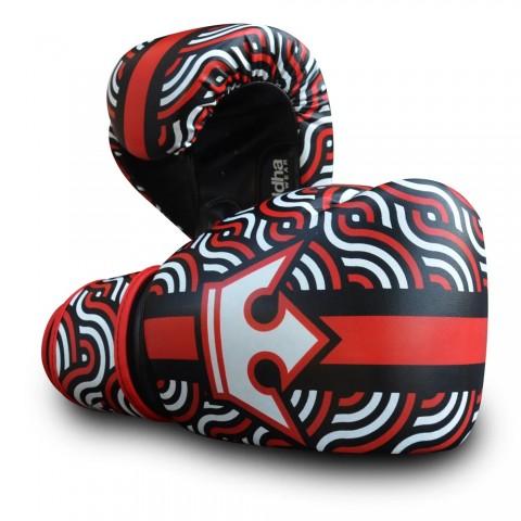 Guantes Infantiles Buddha Spiral Rojo-Negro