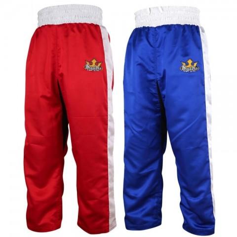 Pantalón Buddha de Kick-Light Boxing Reversible Rojo/Azul